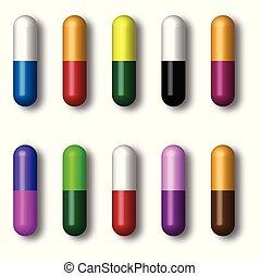 Set medicine capsules