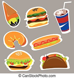 Set menu for fast food restaurants and fast food outlets