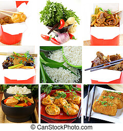 Set menu of Chinese food