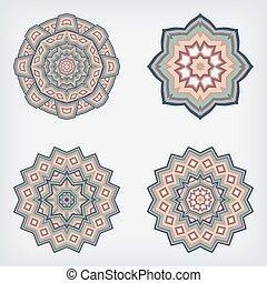 set, model, circulaire, decoratief
