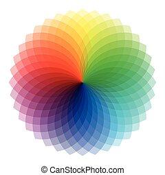 set, model, circulaire