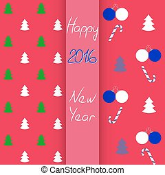 set, model, seamless, illustratie, vector, jaar, nieuw, kerstmis