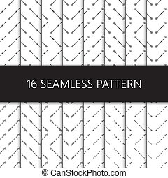 set, model, seamless, illustratie, vector, pijl, ethnische