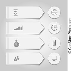 Set modern business banners with infographic icons
