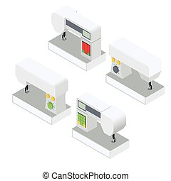 Set modern electronic sewing machines