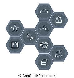 Set modern web icons