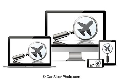Set Monitor Notebook Tablets Smartphone Loupe Jet - Set ...
