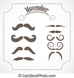 set., movember, moustache