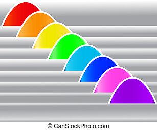 set multicolored sticker