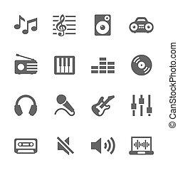 set., musica, icone