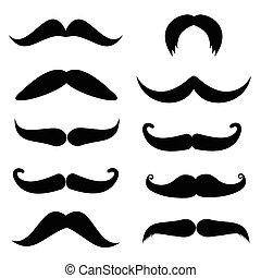 set, mustache