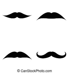 set, mustache.
