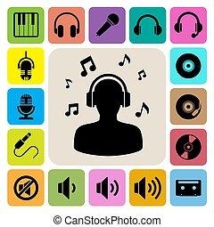 set., muzyka, ikona