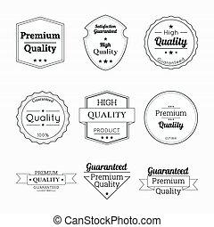 set, nastri, labels., etichette