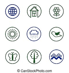set nature icons