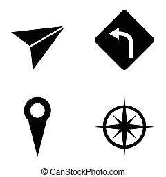 set., navigation, ikonen