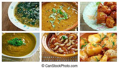 set ndian cuisine - Food set oriental Indian cuisine. ...