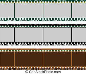 set, negativo, film