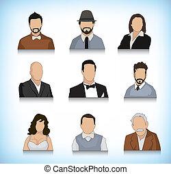 set, negen, avatars