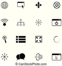 set, netwerk, pictogram