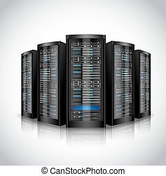 set, netwerk, servers