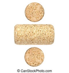new wine corks isolated on white