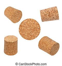 set new wine corks isolated