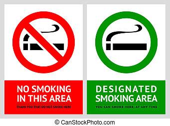set, no, etichette, -, 1, zona, fumo
