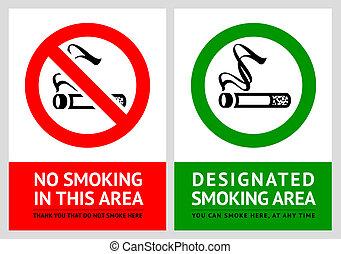 set, no, etichette, -, zona, 3, fumo