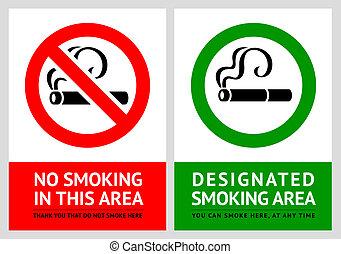 set, no, etichette, -, zona, 7, fumo