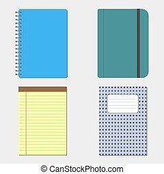 Set notebook icon isolated. Vector illustration