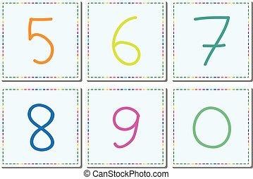 set, nul, vector, vijf, 6, figuren