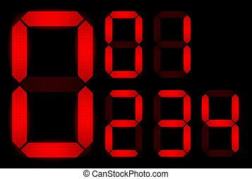 set, numeri, digitale