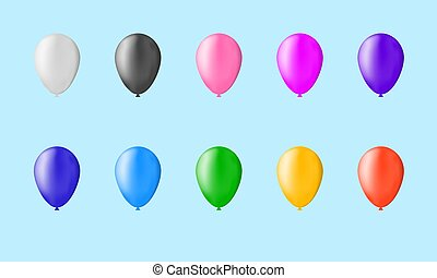 Set of 10 baloons colored with gradient mesh. All ballons are easy recolorable.