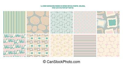 Set of 10 cute patterns.
