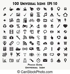 Set of 100 Quality icon