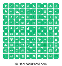 Set of 100 Universal Icons. Business, internet, web design.