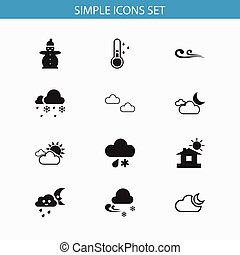 Set Of 12 Editable Air Icons. Includes Symbols Such As ...