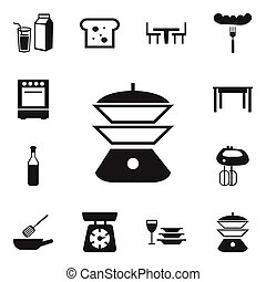 Set Of 12 Editable Cooking Icons. Includes Symbols Such As Hot Dog, Lactose, Desk And More. Can Be Used For Web, Mobile, UI And Infographic Design.