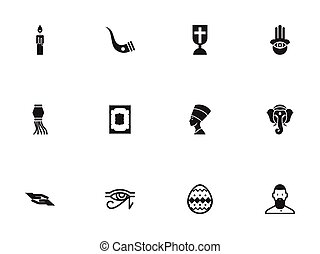 Set Of 12 Editable Faith Icons. Includes Symbols Such As...
