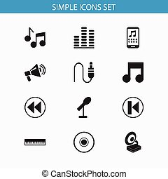 Set Of 12 Editable Multimedia Icons. Includes Symbols Such As Previous, Frequency, Smartphone And More. Can Be Used For Web, Mobile, UI And Infographic Design.