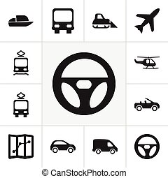 Set Of 12 Editable Shipment Icons. Includes Symbols Such As ...