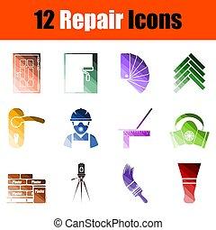 Set of 12 Repair Icons