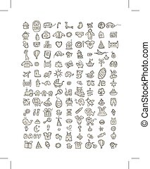 Set of 126 baby icons for your design