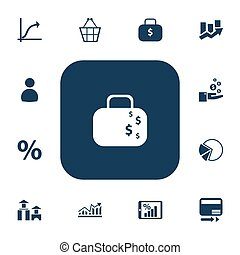 Set Of 13 Editable Analytics Icons. Includes Symbols Such As Pay Redeem, Profit, User And More. Can Be Used For Web, Mobile, UI And Infographic Design.