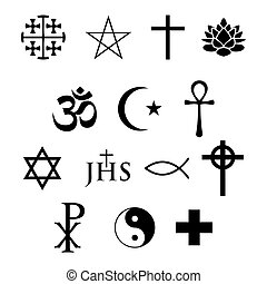 set of 14 religious icons