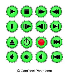 Set of 16 buttons for the player