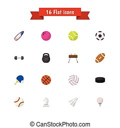 Set Of 16 Editable Active Icons. Includes Symbols Such As...
