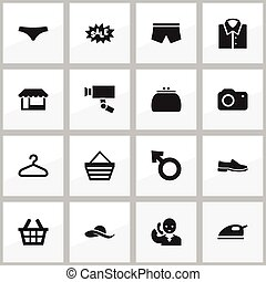 Set Of 16 Editable Business Icons. Includes Symbols Such As...