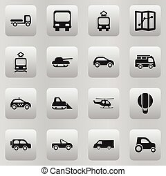Set Of 16 Editable Shipment Icons. Includes Symbols Such As ...